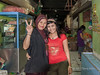 Traditional mother with western-dressed daughter, Bengkulu market, Southwest Sumatra