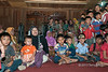 Local children in the 'big house' for a welcoming ceremony, Liwa, West    Lampung, Sumatra