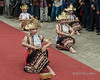 Gending Sriwijaya welcome dance with betel nut box and golden finger nails v2, Liwa, West Lampung, Sumatra<br /> <br /> V1 and V2 are two similar photos that show different hand positions that are part of this traditional dance.