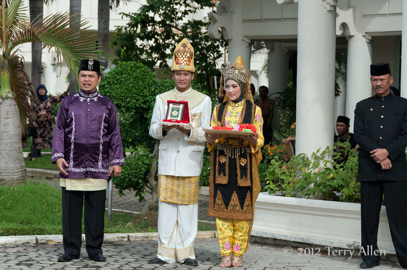 Official-welcoming-cermony,-Lhokseumawe,-Aceh-Province