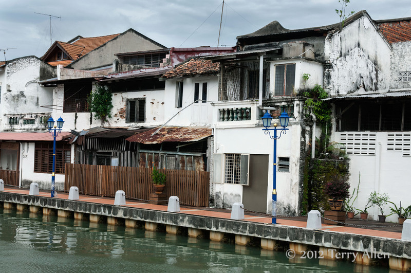 Malacca-old-town-on-Malacca-River,-M alaysia