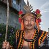 Portrait of a Nias warrior-4, Bawomatuluo Village, Nias Island, Sumatra
