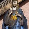 Weather-beaten statue of Jesus, Teluk Dalam, Nias Island, Sumatra