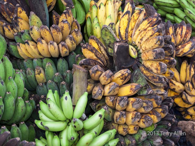 Still life with bananas, Teluk Dalam market, Nias Island, Sumatra