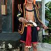 Portrait of a Nias warrior-6, Bawomatuluo Village, Nias Island, Sumatra