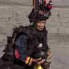 Nias warrior in traditional dress, Bawomatuluo Village, Nias Island, Sumatra