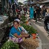 Street scene with vegetables, Teluk Dalam market, Nias Island, Sumatra