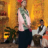 Young woman wearing traditional dress at Minangkabau wedding feast, Cupek, West Sumatra
