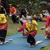 Minangkabau dancers doing traditional egg dance, Cupek, West Sumatra