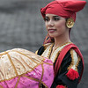 Portrait of a Sumatran beauty at welcome ceremony, Pagang, West Sumatra