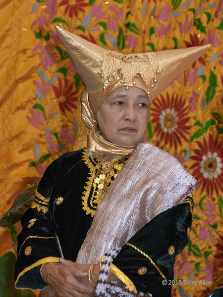 Minangkabau matron at a wedding feast, Cupek, West Sumatra