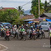 The morning commute consited of hundreds of motorcyles, Panang, West Sumatra