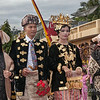 Minangkabau bride and groom on way to ceremony Solok, West Sumatra