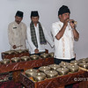 Minangkabau musicians playing traditional brass instruments, Cupek, West Sumatra,