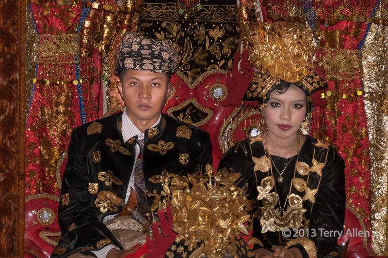 Minankabau bride and groom, Solok, West Sumatra