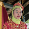 Portrait-of-the-br idesmaid-2,-Aceh-wedding,-Pirak-Timu,-Aceh-Province<br /> <br /> 11. The bridesmaid was a lovely young girl, dressed in a traditional coutfit