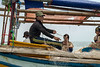 """Repairing the nets, a two hand, one foot job<br /> <br /> Taken near Ujung Kulong National Park, Java Sea, Indonesia<br /> <br /> Other photos of the fishermen on their boats can be seen here: <a href=""""http://goo.gl/cP0ucE"""">http://goo.gl/cP0ucE</a><br /> <br /> 31/03/14  <a href=""""http://www.allenfotowild.com"""">http://www.allenfotowild.com</a>"""