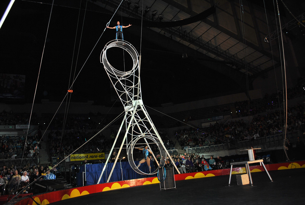 . Shrine Circus will perform many stunts and feats at the fair.