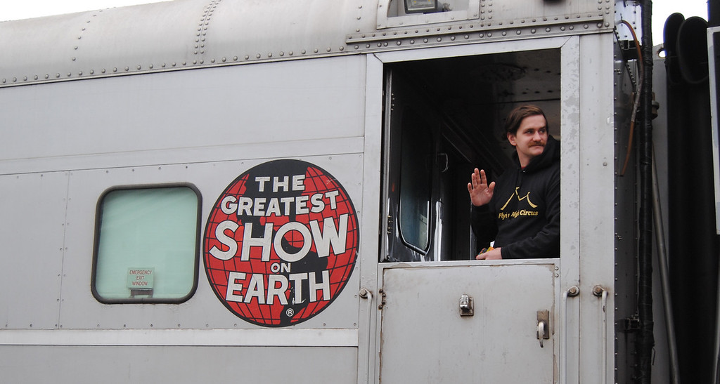 . The Greatest Show on Earth rolled through Ayer on April 17, en route from Worcester, Mass. to Manchester, N.H. After almost 50 years on the road, the Ringling Bros. and Barnum & Bailey Circus will stage its last U.S. show in May.