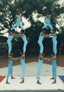 "Circus Ethiopia practicing in ""New"" costumes from Cirque du Soleil"