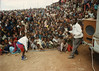 Andarge Mekonen controls the crowd at one of the early performances of Circus Ethiopia in Addis Ababa