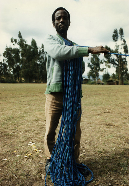 Andarage Mekonen handled crowd control in the early days of Circus Ethiopia