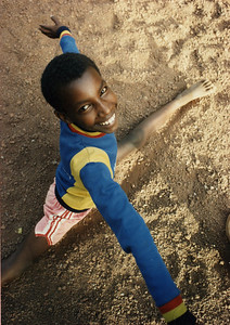 Lesan Takele in an early Circus Ethiopia practice