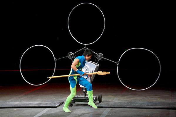 Circus Hoop Acrobats