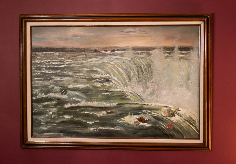 Niagara ...24x36 Oil on canvas Inspired by a wall sized painting by the same name at the Brooklyn Museum of Art. Original image was coincidentally chosen for the cover of the Journal of American Medical Association after I completed my painting.  This one is good for a Urologist office ( but it's not for sale.)