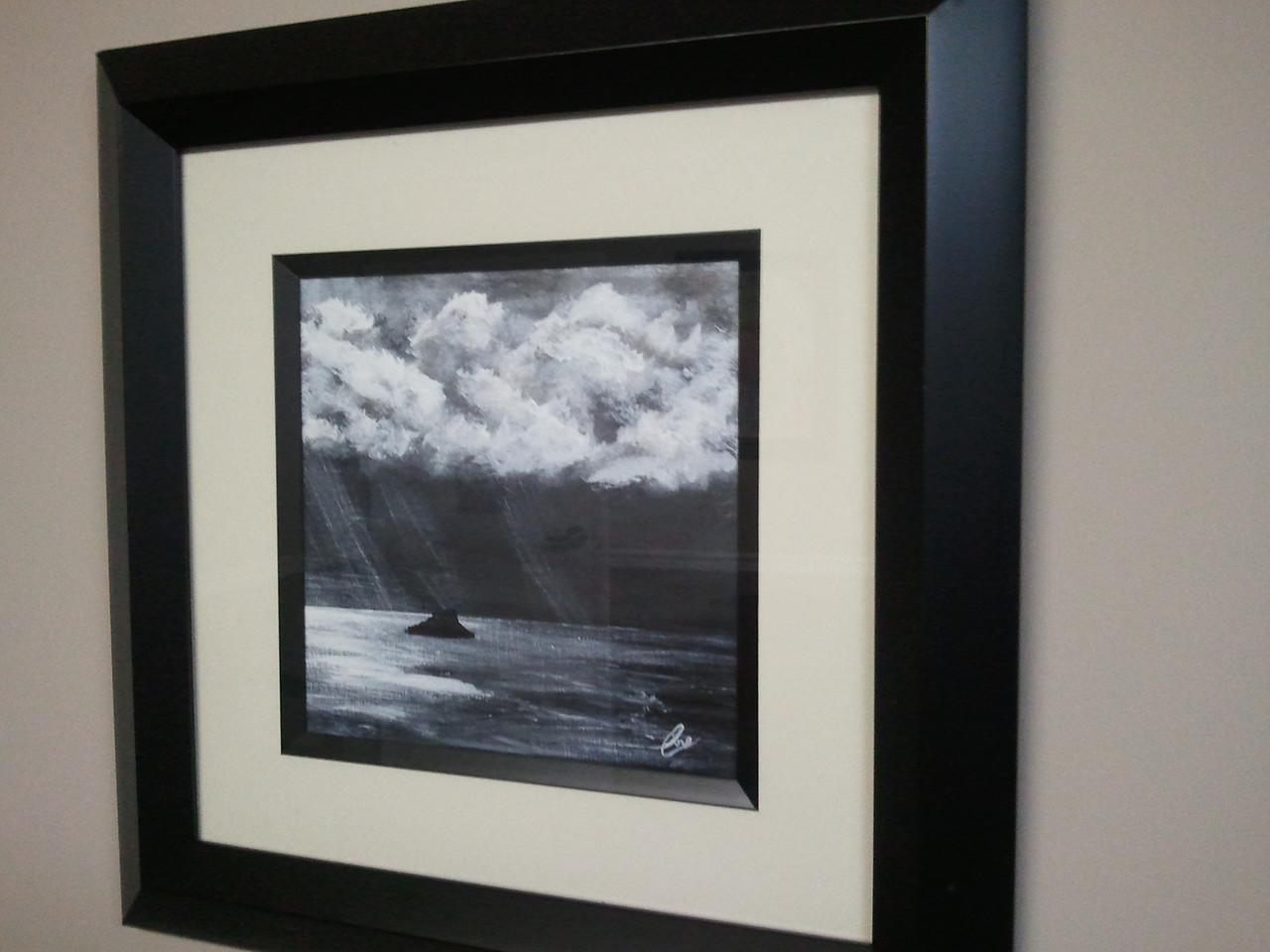 Acrylic Black and White
