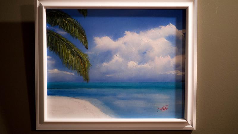 """Tropical Beach ...Oil on Canvas16x20"""""""