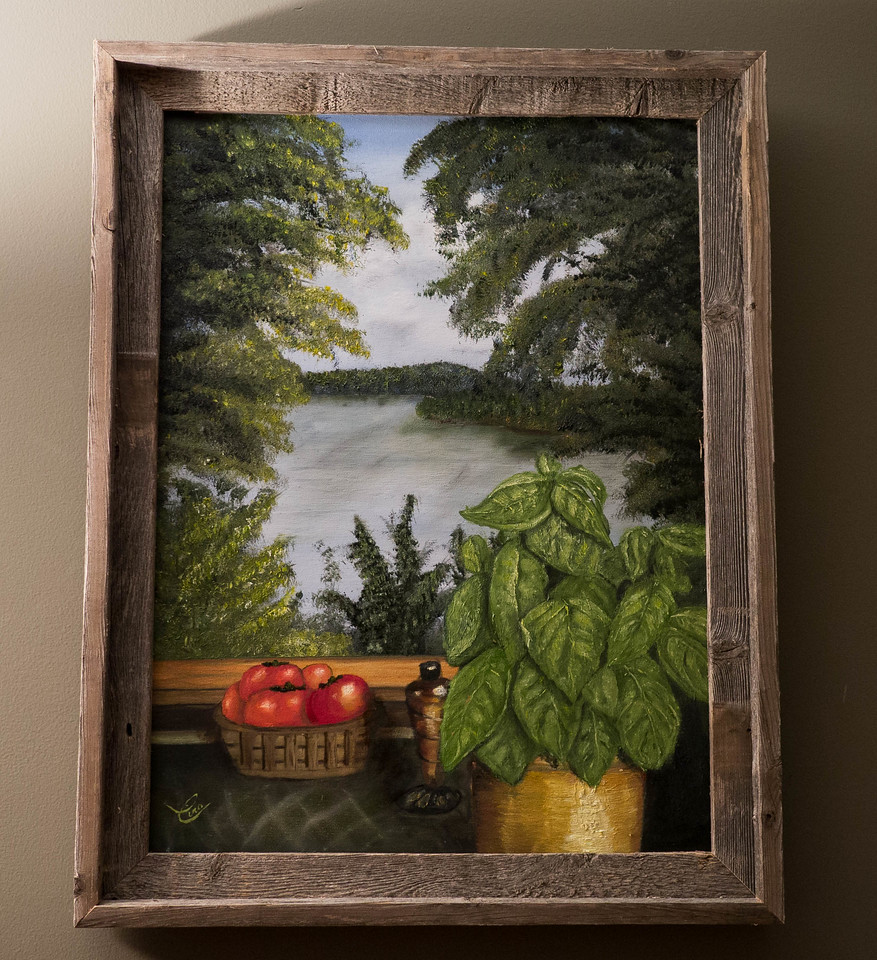 """Kim's View ...Oil on Canvas 18 x 24 """""""