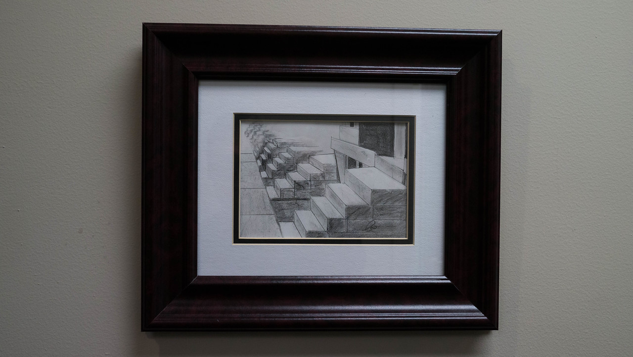 Marble Steps ...pencil