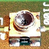 Angle view. The diameter of the outside round part of the connector is about 1.9 mm.