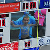 """This little fan was a real crowd pleaser on the """"jumbotron"""" at the game on Saturday."""