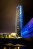 Devon Tower at Night from the Myriad Gardens