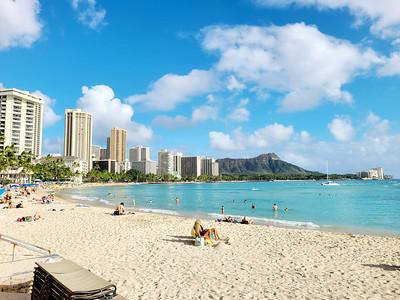 Waikiki Beach on a Saturday