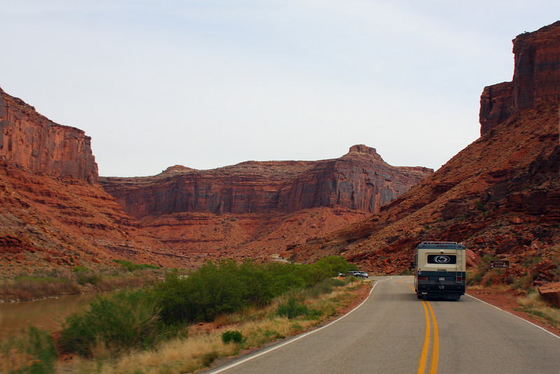 Hwy 128 along side Colorado River, Moab, Utah