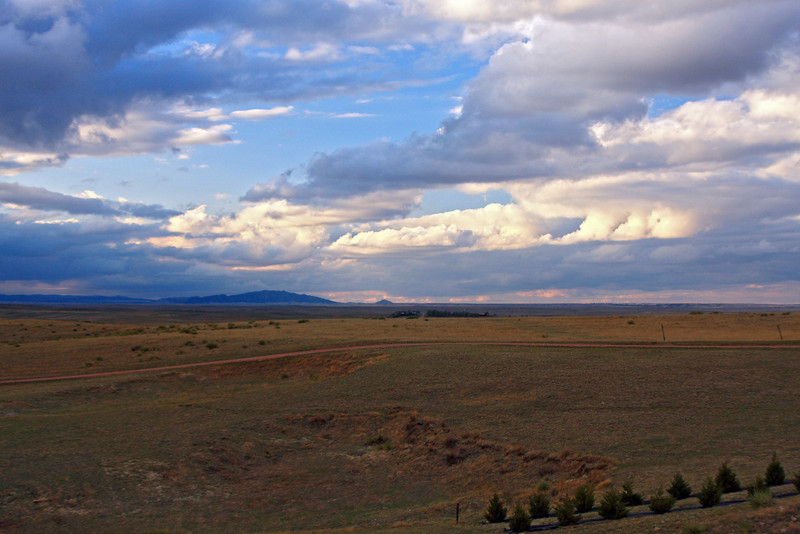View from the living room of the Neff Ranch in Ft. Laramie, Wyoming.