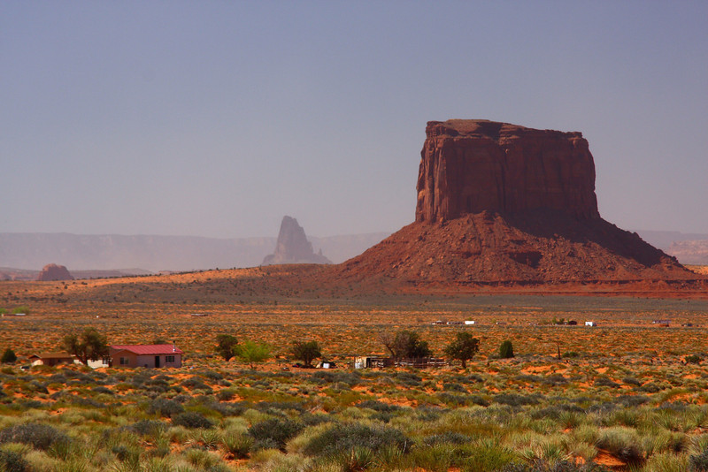 US163 looking West at Oljato-Monument Valley, AZ from Utah just over the boarder.