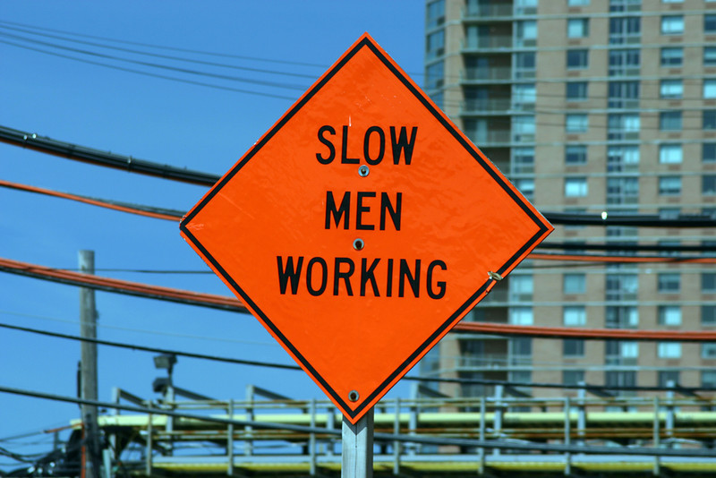 slow men working