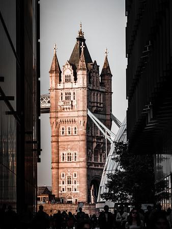 London vista 2. Looking toward Tower Bridge from South Bank