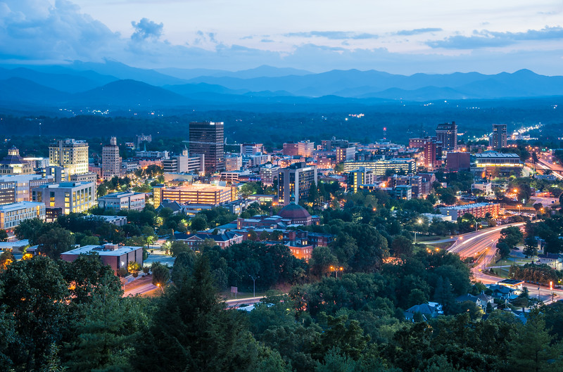 Evening Settles on Asheville.