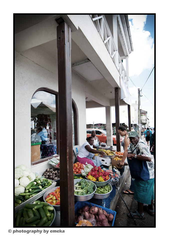 vegetable stand in Speightstown