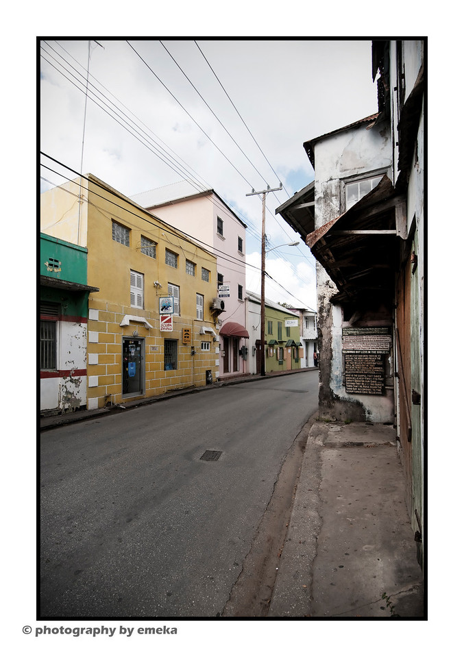Speightstown...but where are all the people?!  They must be lined up outside the bakery, waiting for turnovers.