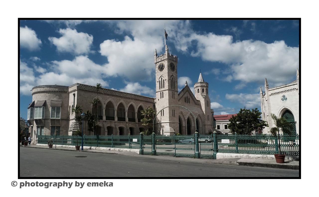 Barbados Parliament Building, located in Bridgetown