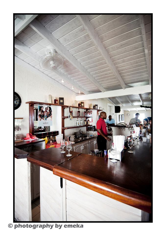 The Tasting Bar inside the Mount-Gay Rum distillery