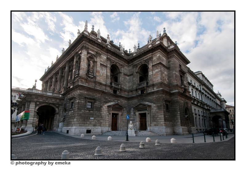 Outside The Budapest Opera House