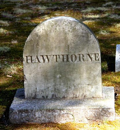 HAWTHORNE, Sleepy Hollow Cemetery, Author's Ridge, Concord, MA