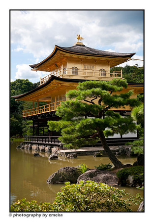 Kinkakuji - also known as the Golden Pavilion is one of Kyoto's most magnificent sights.  It is no wonder that it has been designated a UNESCO World Heritage site.